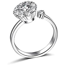 4c246ce66528fb Rotate 3 Carat Round Cut Cubic Zirconia 925 Sterling Silver Women Wedding  Engagement Rings Anniversary Wedding