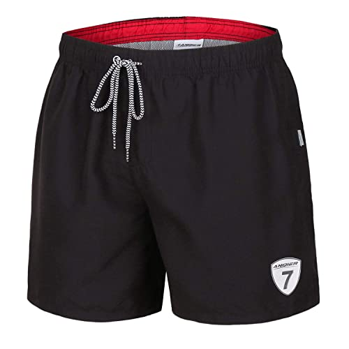 feb9e103be8c9 anqier Mens Swim Trunks Quick Dry Swim Shorts with Mesh Lining Swimwear  Bathing Suits