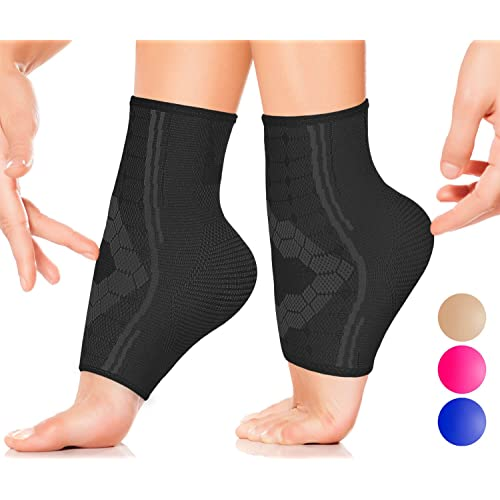 1d43e77963 Ankle Compression Socks by SPARTHOS (Pair) – Plantar Fasciitis Ankle  Brace with Arch