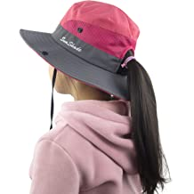 sports shoes 62673 be623 Muryobao Kids Girls Ponytail Summer Sun Hat Wide Brim UV Protection Bucket  Cap